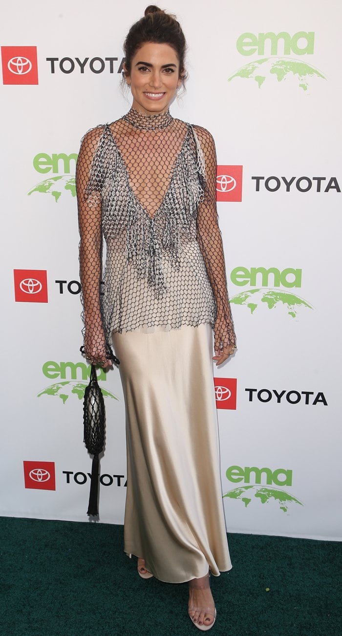 The eco-conscious actress Nikki Reed attends the 2019 Environmental Media Awards