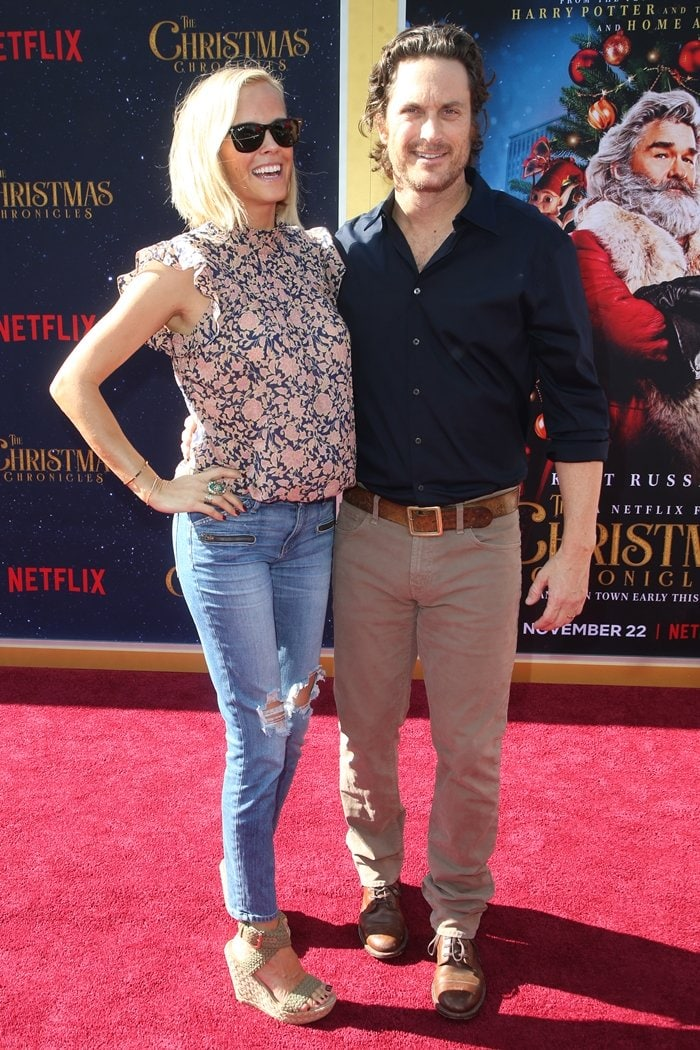 Oliver Hudson and his wife Erinn Bartlett
