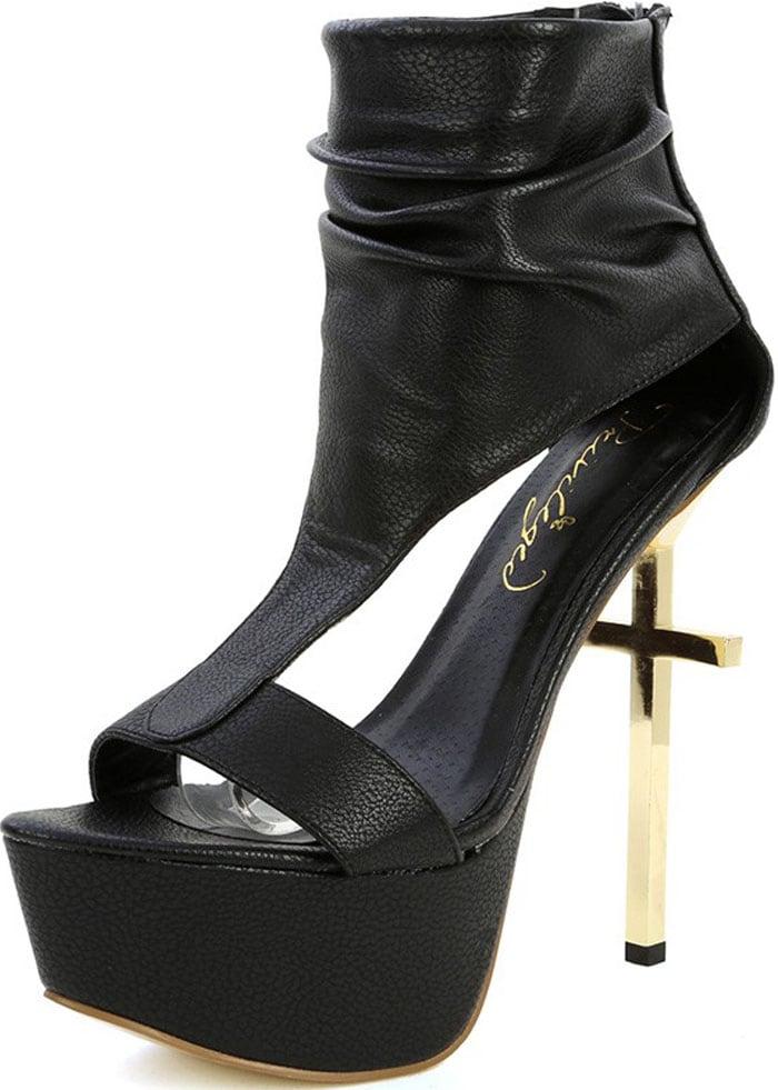 Privileged Harty Cross-Platform Heels in Black