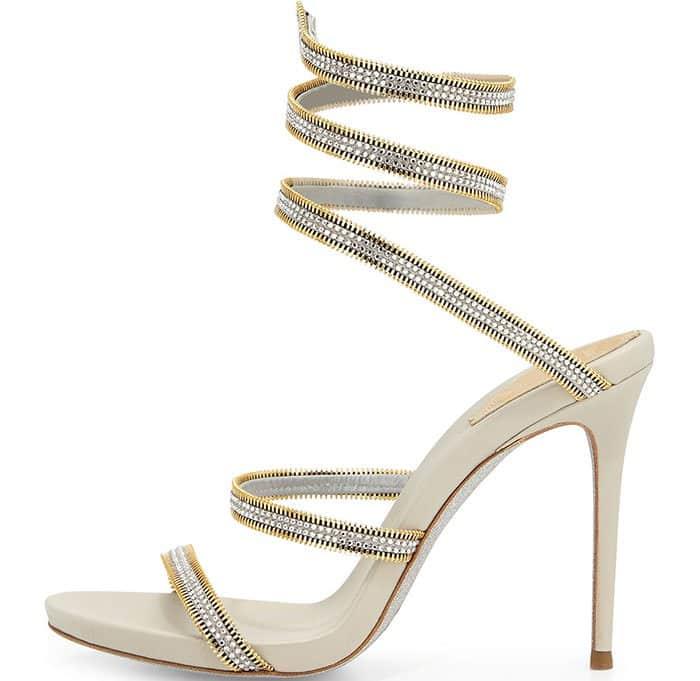 Crystal Snake-Coil Evening Sandal