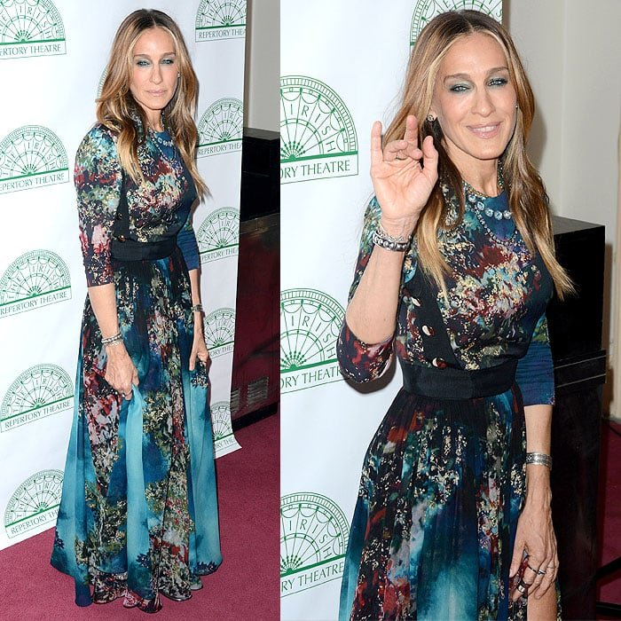 Sarah Jessica Parker arriving to host the Irish Repertory Theatre's Annual Gala Production celebrating poet William Butler Yeat's 150th birthday