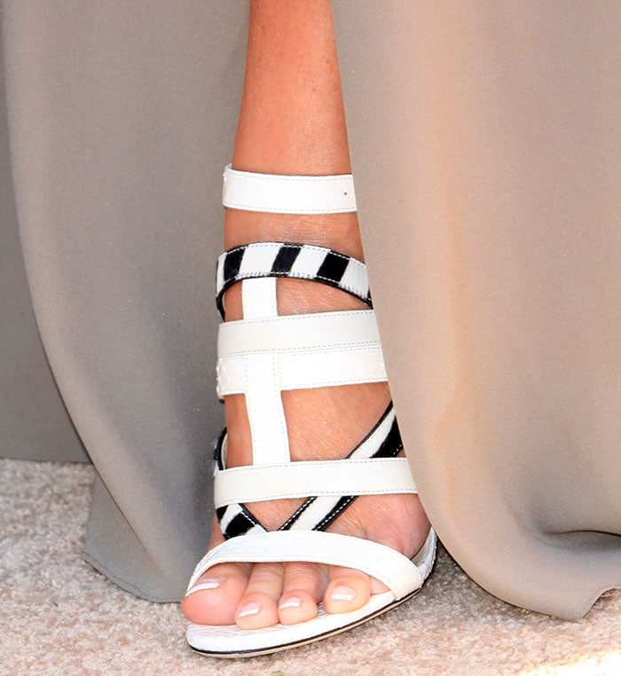 Sharon Stone's sexy feet in Jimmy Choo Vanquish sandals