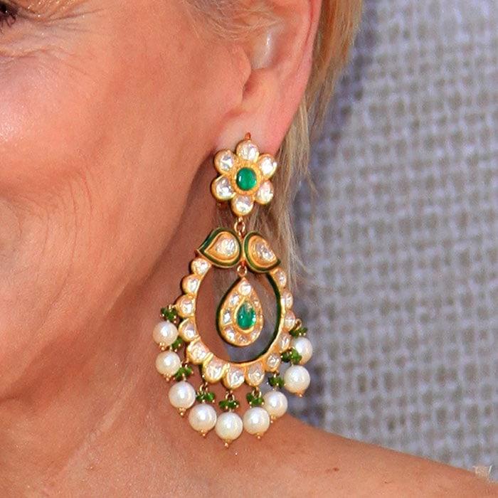 Sharon Stone's huge drop earrings