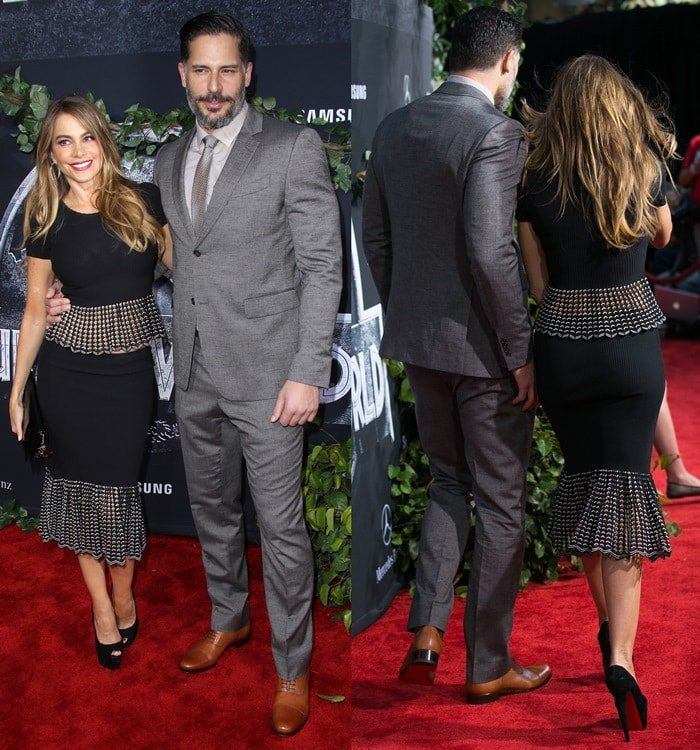 "Sofia Vergara and Joe Manganiello at the premiere of ""Jurassic World"""