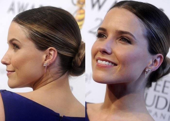 Sophia Bush's stunning earrings by Nikos Koulis Jewels