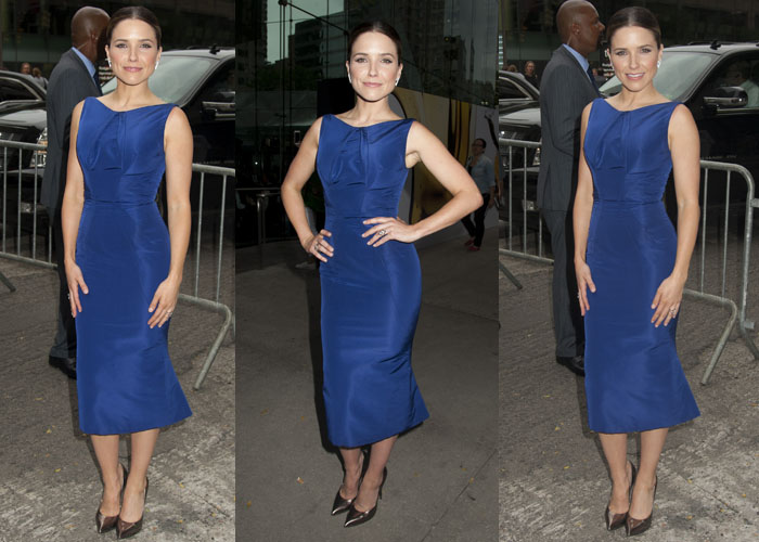 Sophia Bush wore a beautiful blue dress by Zac Posen