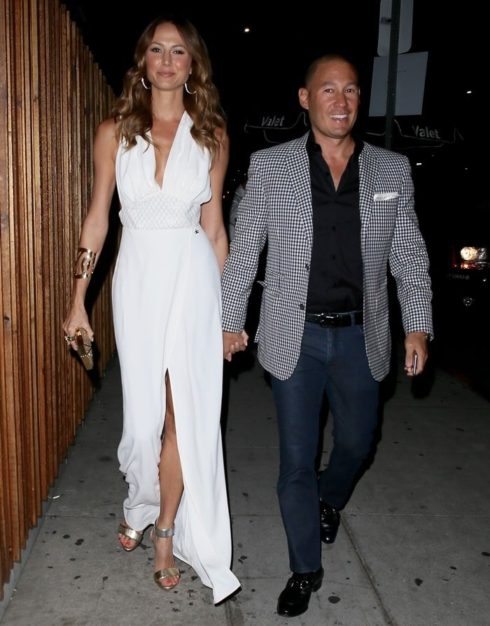 Stacy Keibler enjoyed a late-night outing with husband Jared Pobre