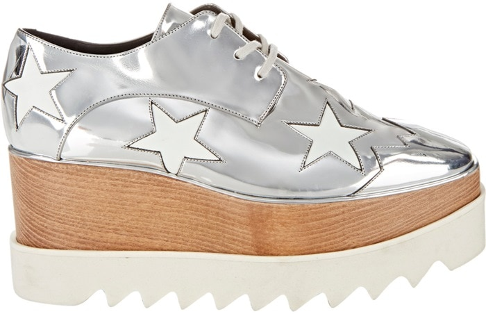 Stella McCartney Silver Elyse Platform Oxfords