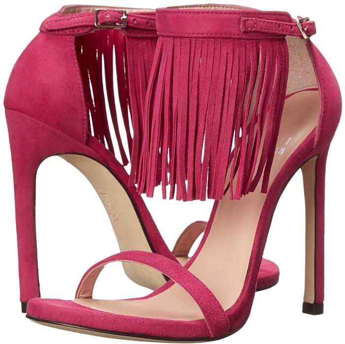 Stuart Weitzman Lovefringe Fuchsia Sandals