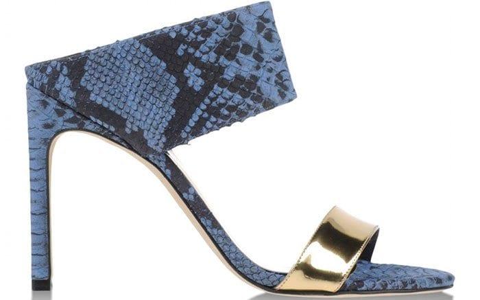 Blue SnakeskinMyslide Sandals