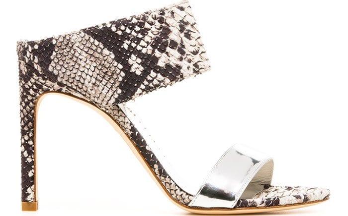 Stuart Weitzman Myslide Snakeskin Sandals
