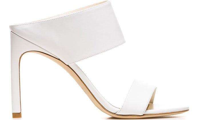 Stuart Weitzman Myslide White Sandals