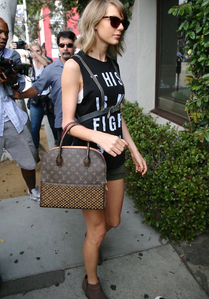Taylor Swift's controversial leather suspenders from Free People