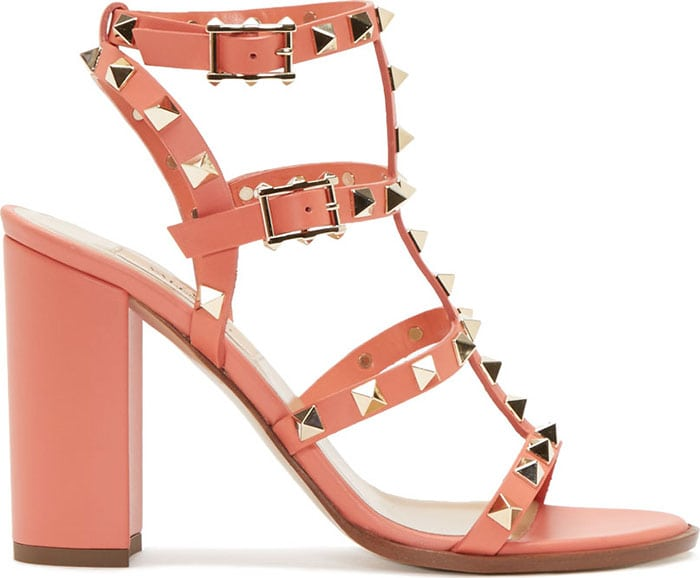 Rockstud City Sandals in Coral