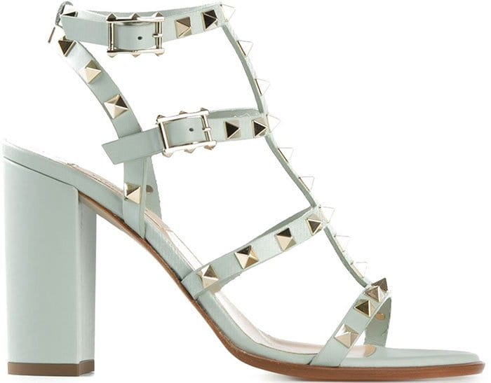 Valentino Rockstud Sandals Mint Green