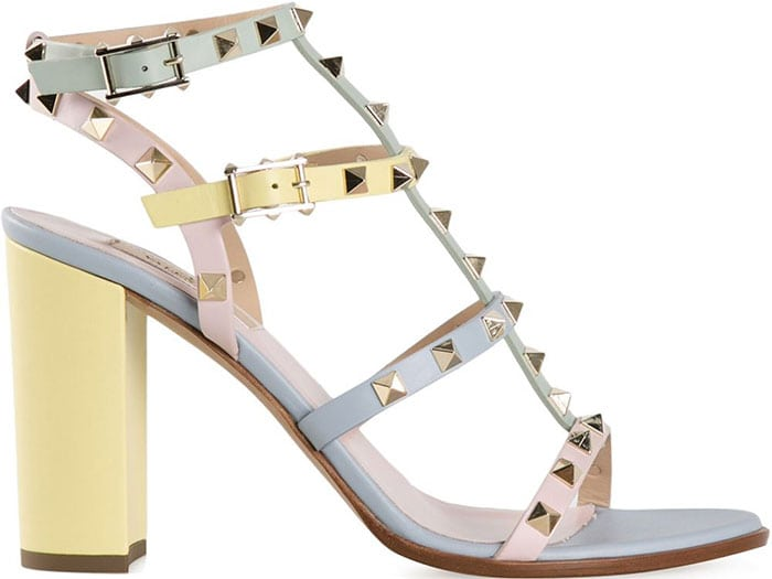 Valentino Rockstud Sandals multicolored