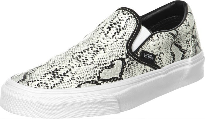 Vans Classic Slip-On Shoes in Snake Leather