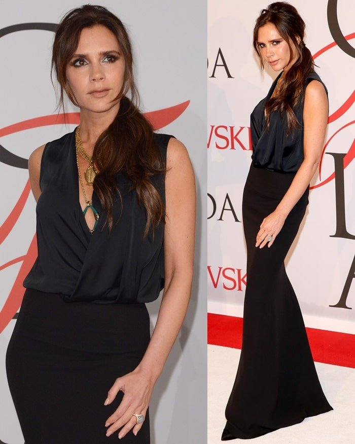 Victoria Beckham at the 2015 CFDA Fashion Awards held at Alice Tully Hall