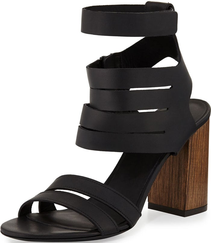 Vince Freida Leather Multi-Strap Sandal in Black
