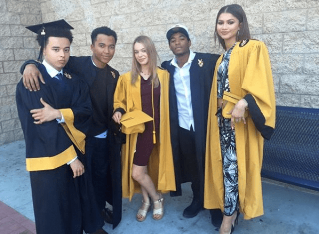 Zendaya with her contemporaries and fellow graduates