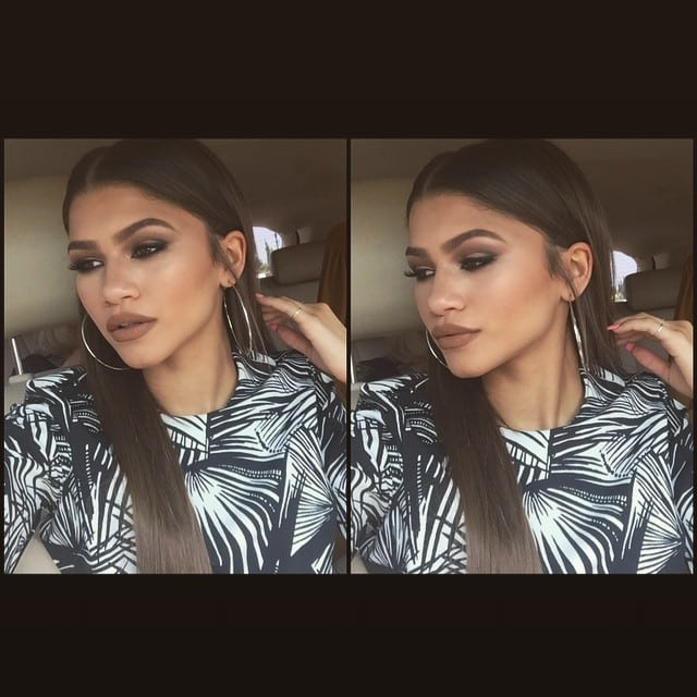 """Zendaya in a car on her way to her high school graduation in an Instagram pic captioned """"That senior slay..."""""""