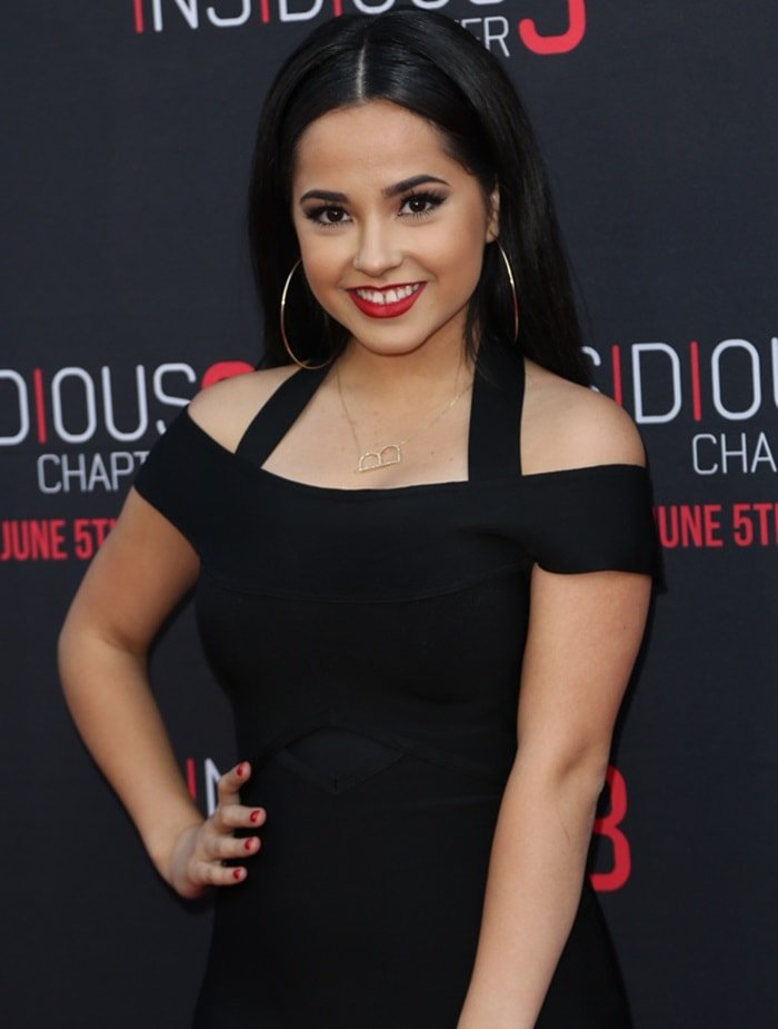 Becky G at the Hollywood screening of Insidious: Chapter 3 held at the TCL Chinese Theater in Los Angeles, CA on June 4, 2015