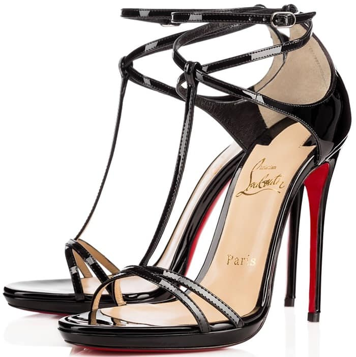 Christian Louboutin Benedetta Fall 2015 T-Strap Sandals