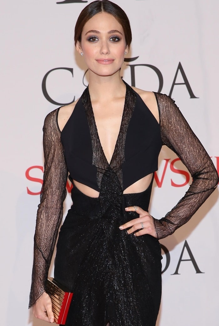 2015 CFDA Fashion Awards at Alice Tully Hall, Lincoln Center - Arrivals Featuring: Emmy Rossum Where: New York, New York, United States When: 01 Jun 2015 Credit: Andres Otero/WENN.com