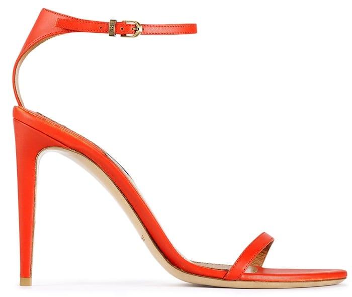 "Ralph Lauren ""Blasia"" Sandals in Bright Orange"
