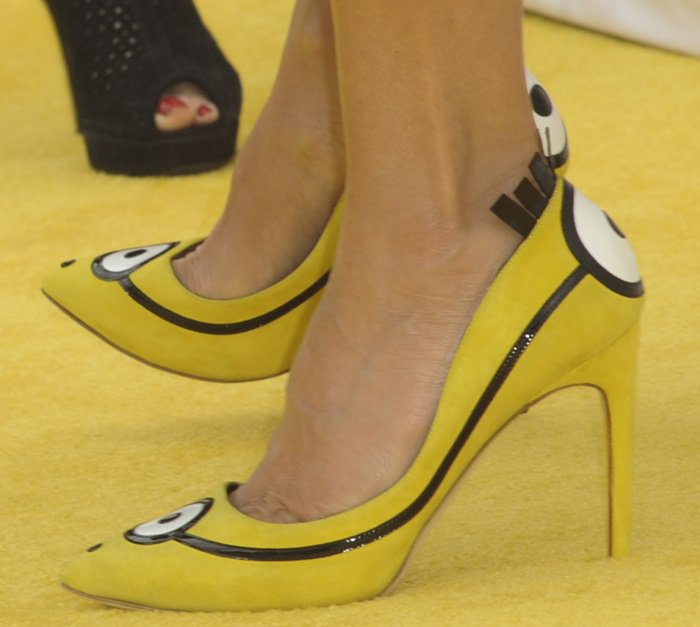 Sandra Bullock wearinglimited-edition Rupert Sanderson pumps