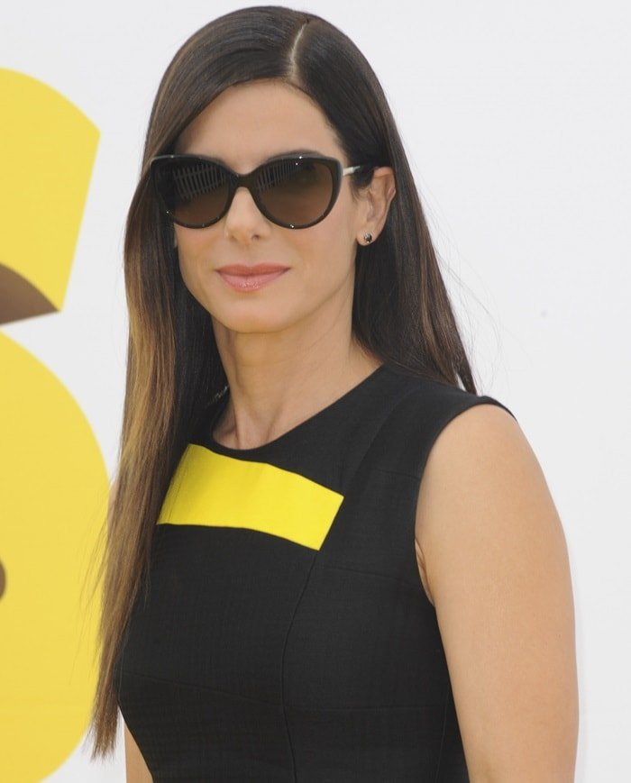 """Sandra Bullock at the premiere of """"Minions"""" held at the Shrine Auditorium in Los Angeles on June 27, 2015"""