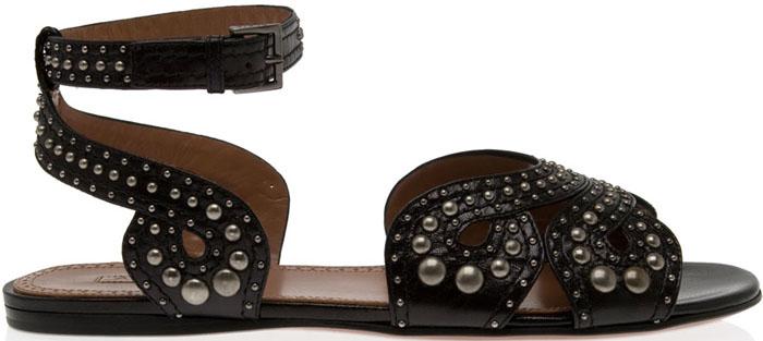 Alaïa Stud Detail Gladiator Sandals