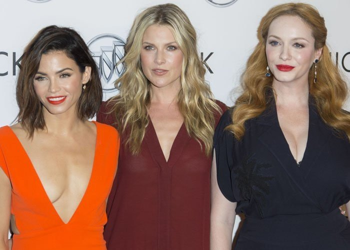 Jenna Dewan Tatum, Ali Larter, and Christina Hendricks get together on the red carpet while attending Buick's 24 Hours Of Happiness Test Drive Launch event