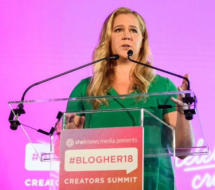 The widely hated comedian Amy Schumer attends #BlogHer18 Creators Summit