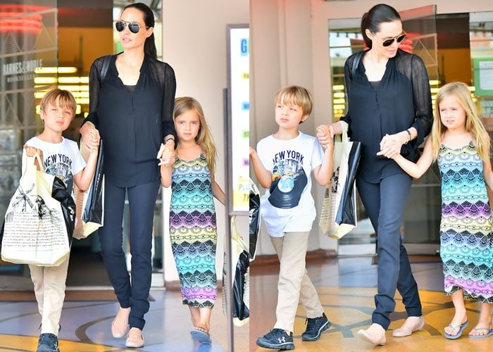 Angelina Jolie and her adorable twins, Knox Jolie-Pitt and Vivienne Jolie-Pitt