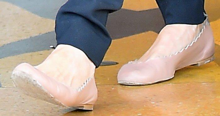 Angelina Jolie's Chloé Lauren ballerina flats