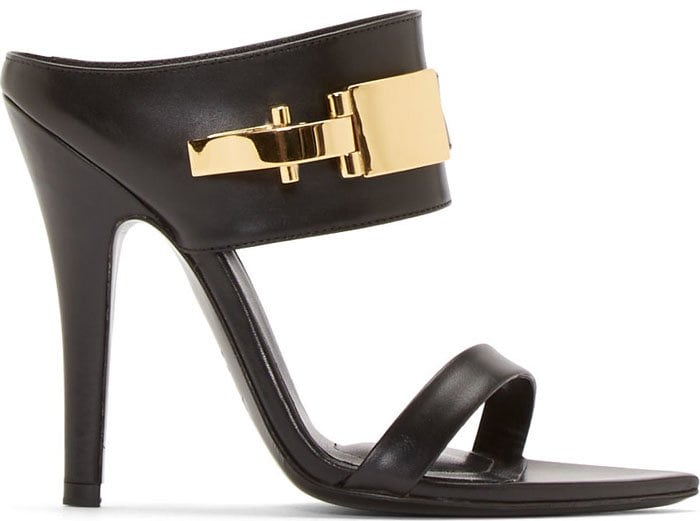 Versus x Anthony Vaccarello Black Leather Decolleté Edition Sanda