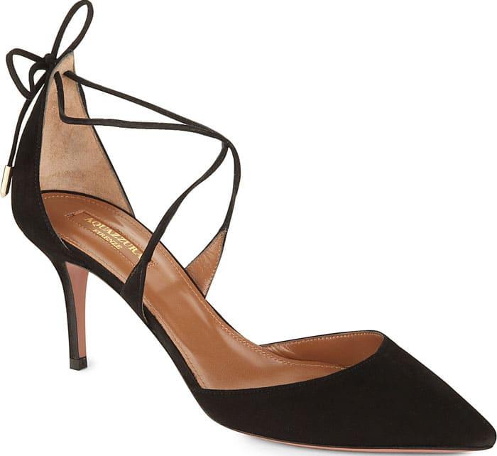 Aquazzura Matilde 75 Leather Heeled Sandals