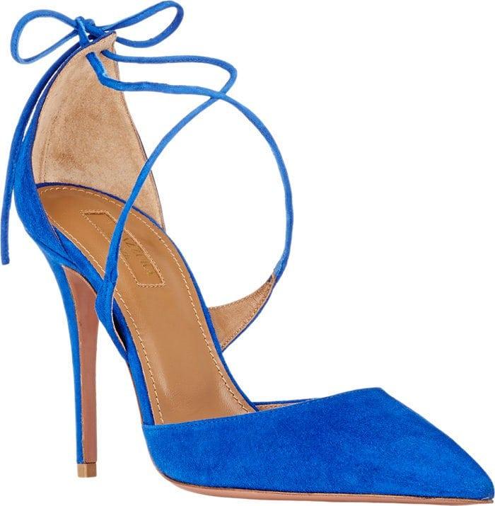 Aquazzura Matilde Blue Pumps