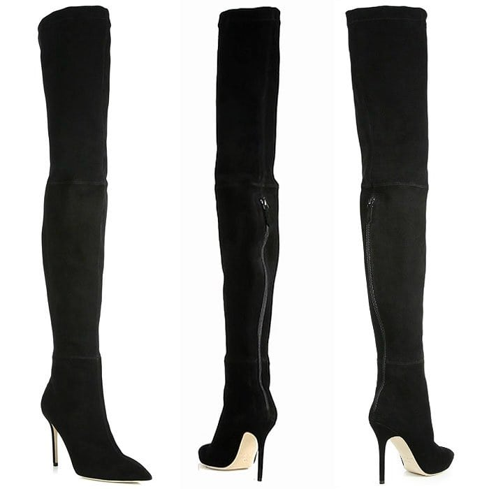 Brian Atwood Odille Suede Thigh-High Boots
