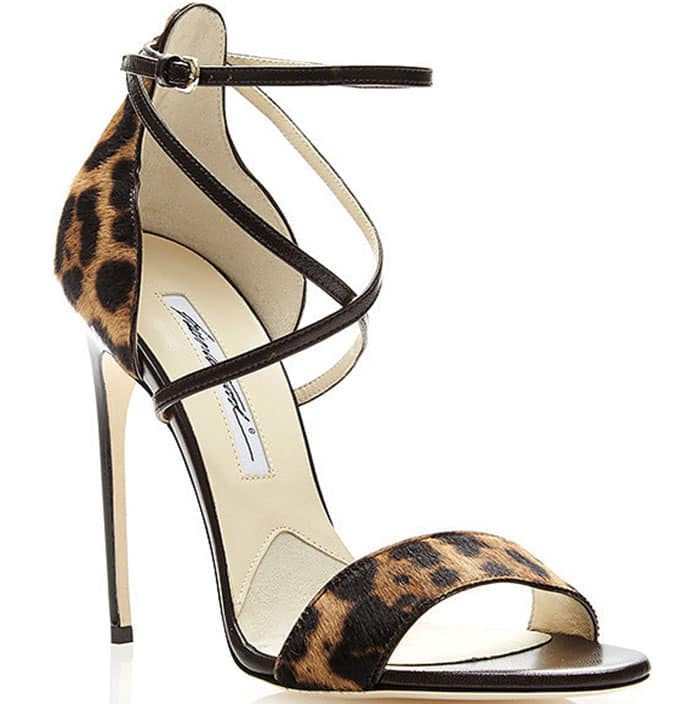 Brian Atwood Tamy Sandals Leopard Print