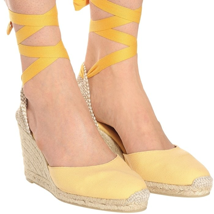 Castañer fuses laid-back cool with summertime glamour to create this pair of Carina espadrilles