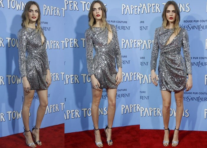 Cara Delevingne showed up in one of her best looks yet