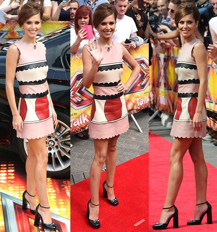 "Cheryl Fernandez-Versini flaunts her legs at ""The X Factor"" London auditions"