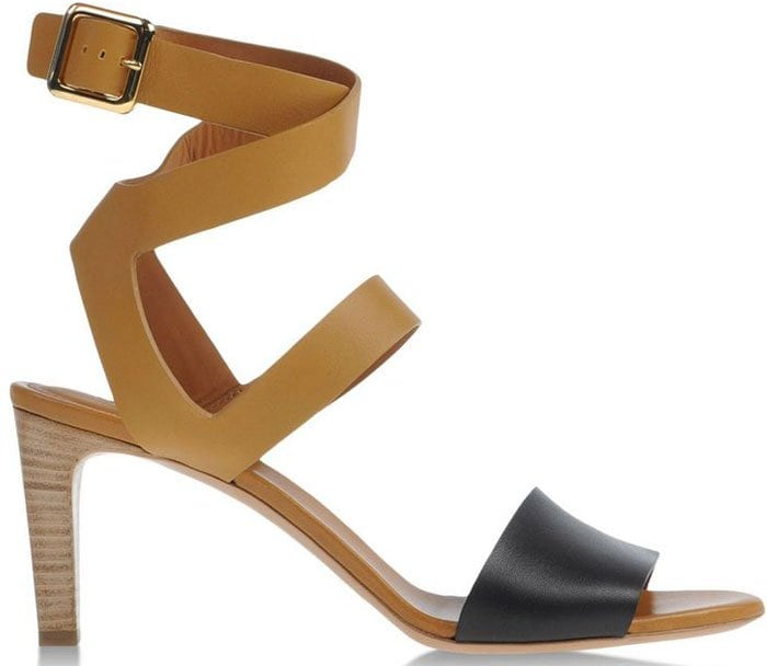 Chloe Ankle Leather Strap Sandal