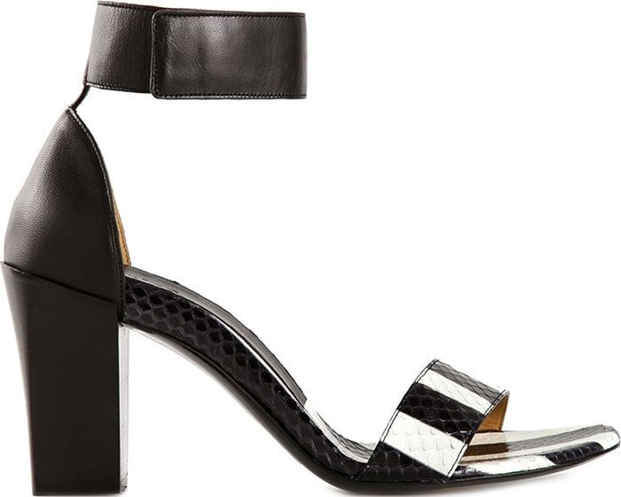 Chloe Ankle Strap Striped Sandals