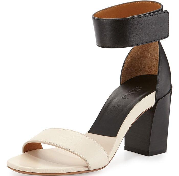 Chloe Two Tone Block Heel Sandals
