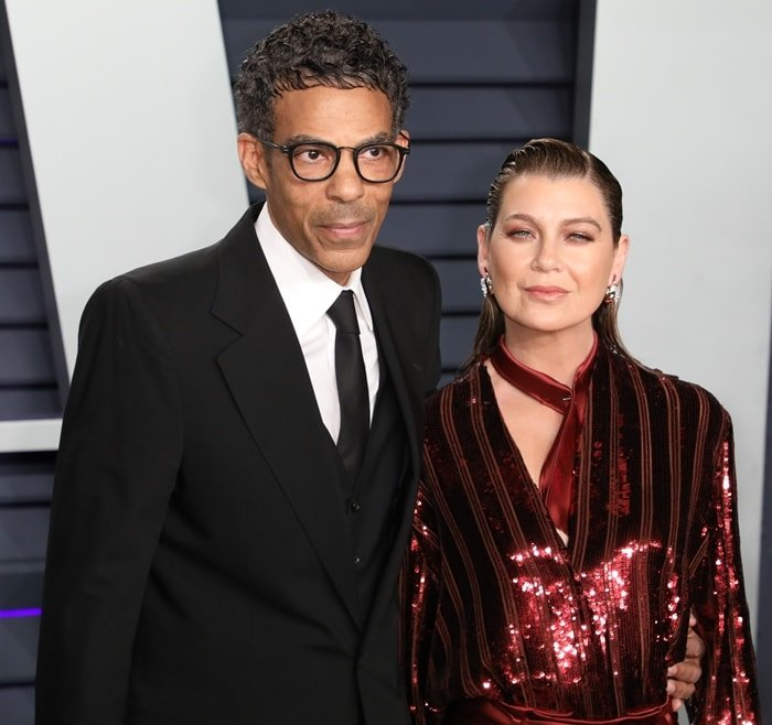 Chris Ivery and his wife Ellen Pompeo at the 2019 Vanity Fair Oscar Party