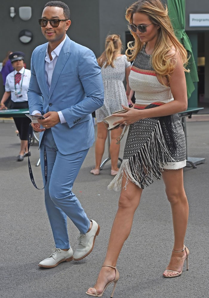 Chrissy Teigen toted one of her favorite Valentino handbags