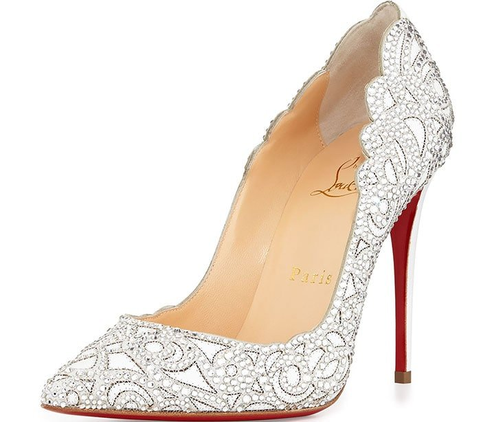 Christian Louboutin Top Vague Pumps in Silver